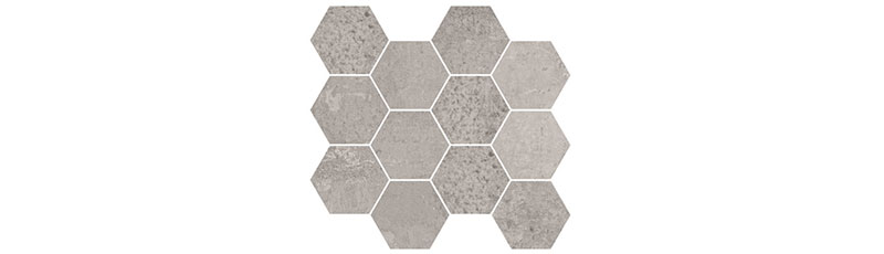 Aparici Metallic Grey Natural Mosaico Hexagonal 28x30