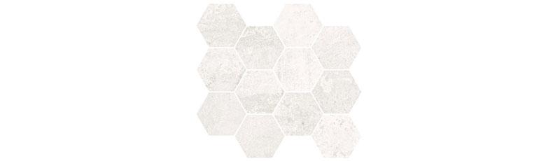 Aparici Metallic White Natural Mosaico Hexagonal 28x30