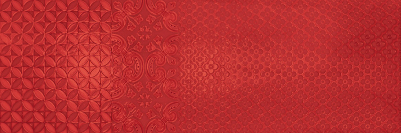 Arcana Aquarelle Murale Rosso 25x75