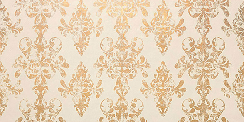 Atlas Concorde Ewall Damask White Gold 40x80
