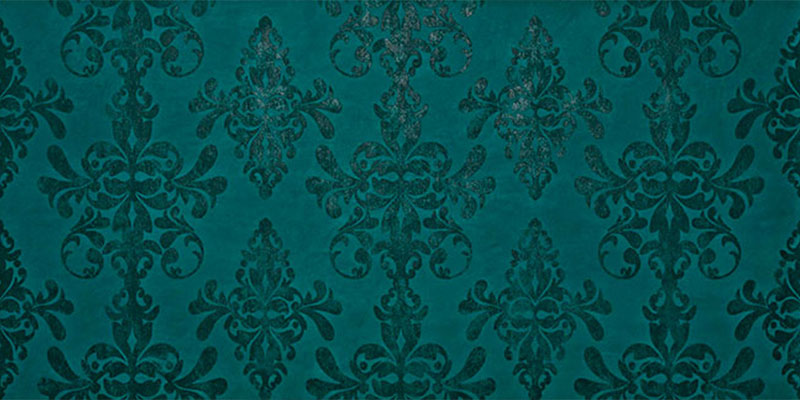 Atlas Concorde Ewall Damask Petroleum Green 40x80