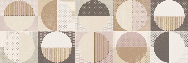 Cifre Cromatica Decor Circles Warm 25x75