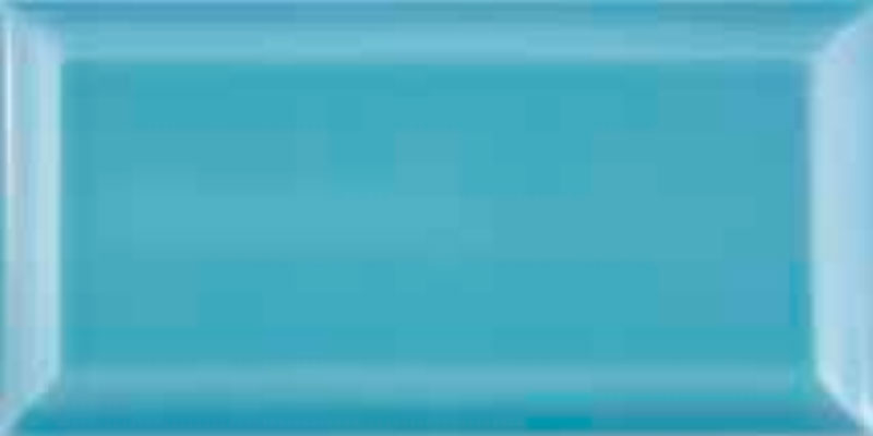 Fabresa Bevelled Biselado Azul Turquesa 10x20