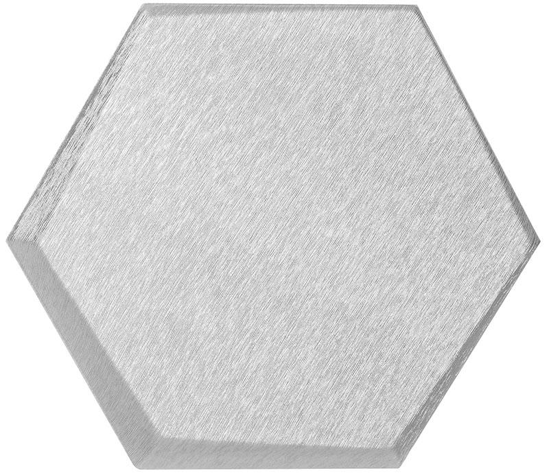 Mopa Hexa Ezüst Szálcsiszolt 20x23,2