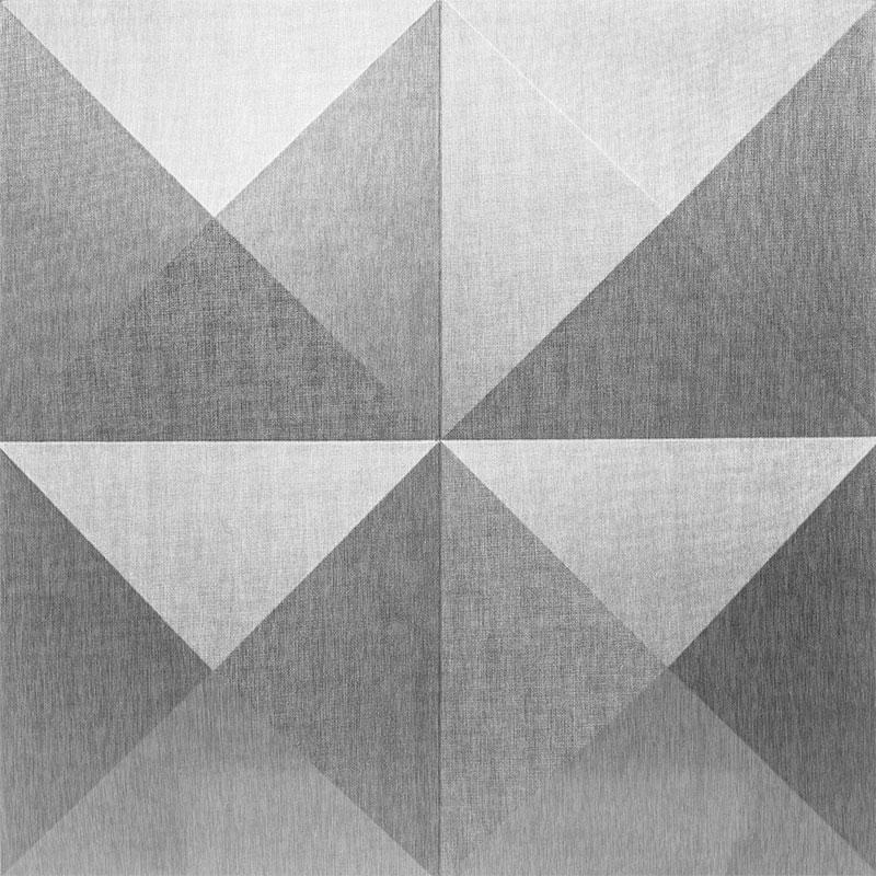 Mopa Piramis Ezüst Glitter 60x60
