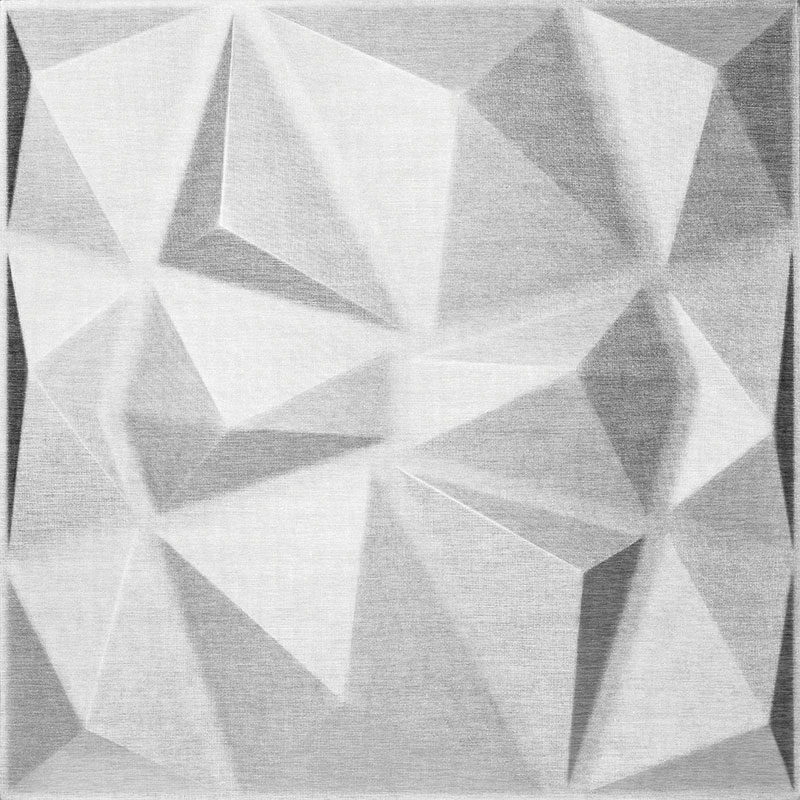 Mopa Prizma Ezüst Glitter 60x60